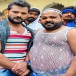 Khesari Lal, Cp Bhatt's Pictures Viral from the Set of the Film Baap Ji