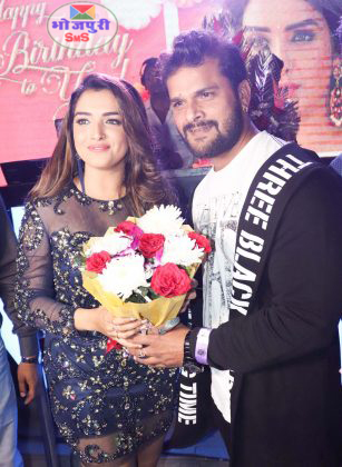 Khesari Lal Yadav arrive at Amrapali Dubey's birthday party